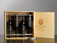 4-Bottle Wooden Crate